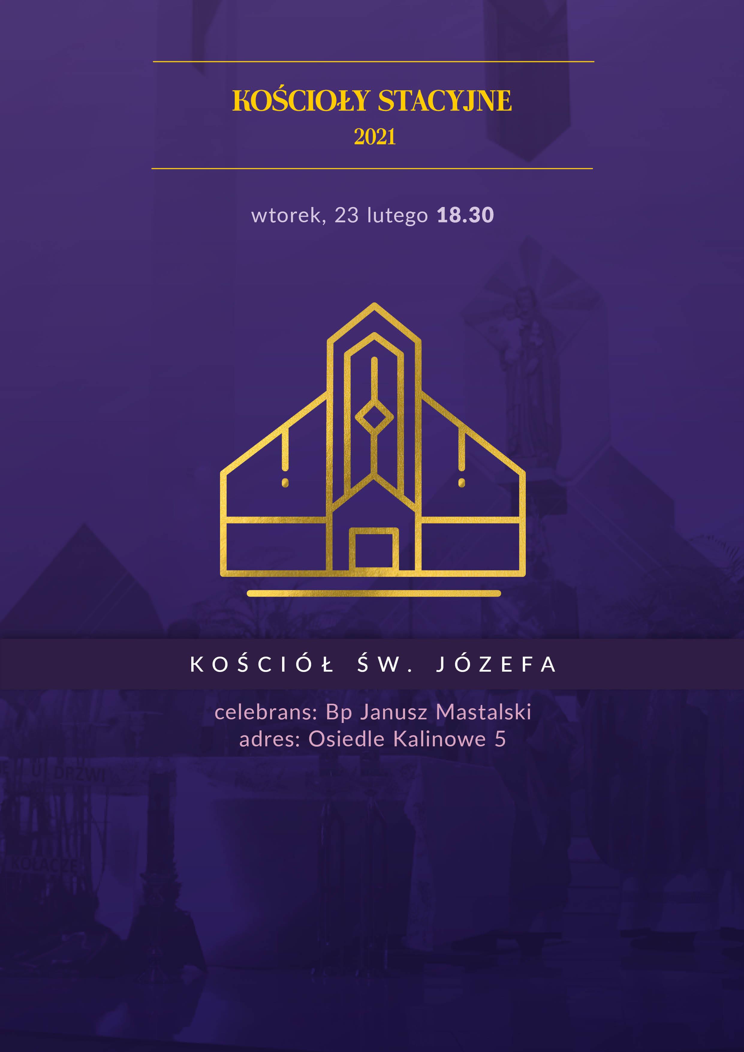 Msza św. w stacyjnym kościele św. Józefa na os. Kalinowym