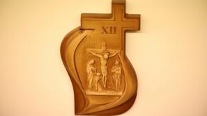 Poświęcenie stacji drogi krzyżowej w Wyższym Seminarium Duchownym