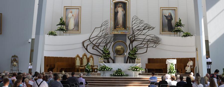 Abp Marek Jędraszewski w Łagiewnikach zainaugurował nowennę przygotowującą do 20. rocznicy Aktu zawierzenia świata Bożemu miłosierdziu
