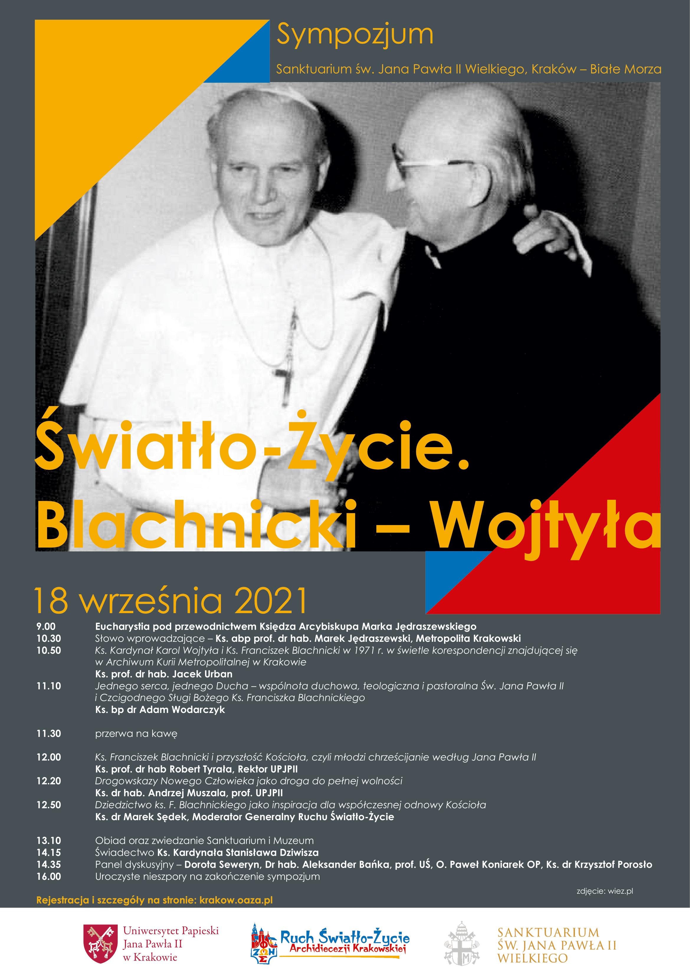 Sympozjum Światło-Życie. Blachnicki-Wojtyła