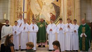 Błogosławieństwo lektorów w Sanktuarium św. Jana Pawła II w Krakowie